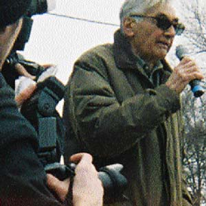 Howard Zinn: photo by Natalie Davis