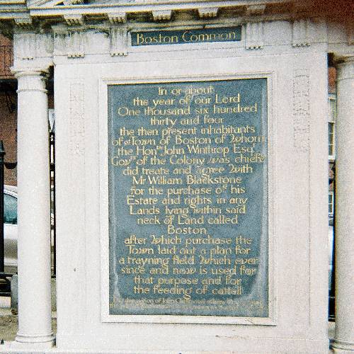 plaque at Boston Common: photo by Natalie Davis